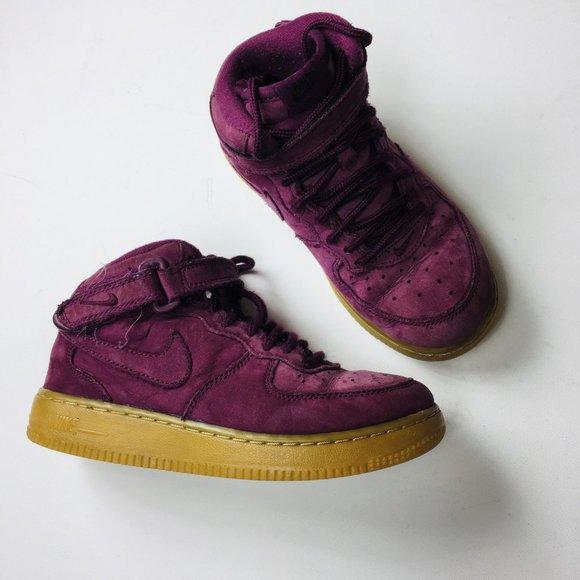 Nike Shoes | Nike Af Kids Mid Burgundy